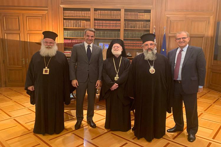 Συνάντηση Αντιπροσωπείας Εκκλησίας Κρήτης με τον Πρωθυπουργό Κυριάκο Μητσοτάκη