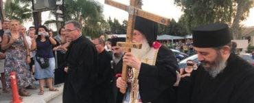 Υποδοχή Σταυρού του Μεγάλου Κωνσταντίνου από το Άγιον Όρος στη Μητρόπολη Λεμεσού