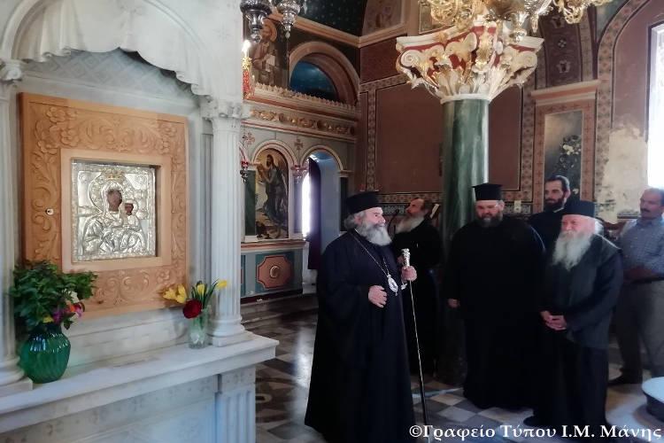 Ο Μητροπολίτης Μάνης στην Ιερά Μονή Βουλκάνου (ΦΩΤΟ)
