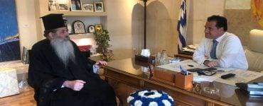 Συνάντηση του Μητροπολίτου Πειραιώς με τον Υπουργό Ανάπτυξης Γεωργιάδη