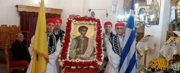 Εορτή Αγίου νεομάρτυρος Ιωάννου του Μονεμβασιώτου στη Μητρόπολη Σπάρτης
