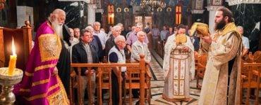 Εσπερινή Θεία Λειτουργία αφιερωμένη στους άνδρες της ενορίας στα Κύμινα (ΦΩΤΟ)