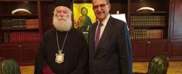 Ο Υφυπουργός Εξωτερικών στον Πατριάρχη Αλεξανδρείας