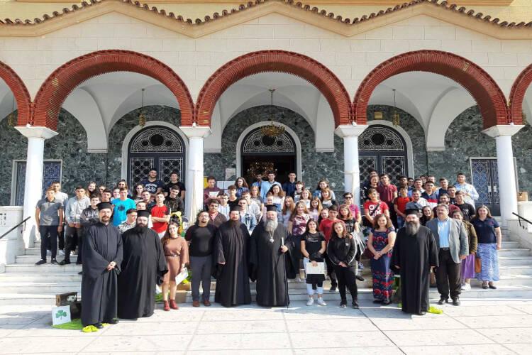 Νέοι της Μητροπόλεως Κίτρους στη Λάρισα (ΦΩΤΟ)