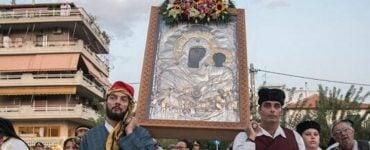 Λιτάνευση Εικόνας Παναγίας Βουρλιώτισσας στη Νέα Φιλαδέλφεια (ΦΩΤΟ)