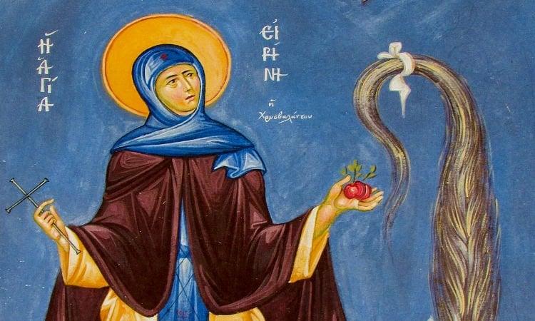 Λείψανο Αγίας Ειρήνης Χρυσοβαλάντου στο Βαθύλακκο Κοζάνης