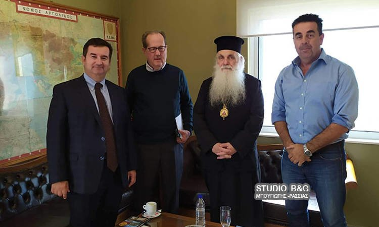 Συνάντηση Περιφερειάρχη Πελοποννήσου με Μητροπολίτη Αργολίδας και Δήμαρχο Ναυπλιέων