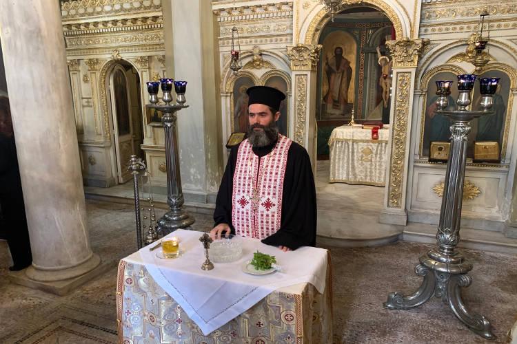 Ο πρώτος Αγιασμός του νέου Πρωτοσυγκέλλου της Αρχιεπισκοπής Αθηνών