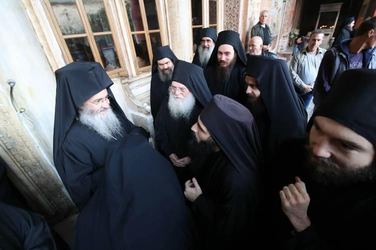 Ο Μητροπολίτης Ναυπάκτου Ιερόθεος στη Μονή Βατοπαιδίου (ΦΩΤΟ)