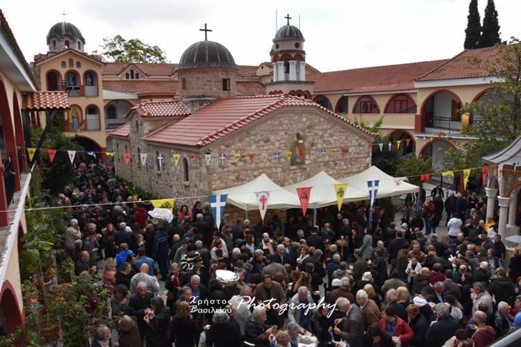 Λαμπρός εορτασμός Αγίου Ιακώβου Τσαλίκη στη Μονή Οσίου Δαβίδ