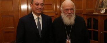 Συνάντηση Αρχιεπισκόπου με τον Υφυπουργό Εξωτερικών
