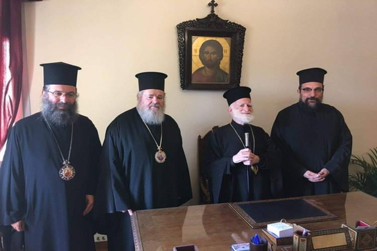Επίσκεψη του Μητροπολίτου Κυδωνίας και του Εψηφισμένου Επισκόπου Δορυλαίου στον Αρχιεπίσκοπο Κρήτης