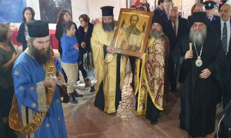 Υποδοχή εικόνας Αγίου Νικολάου στα Κάτω Πολεμίδια Κύπρου