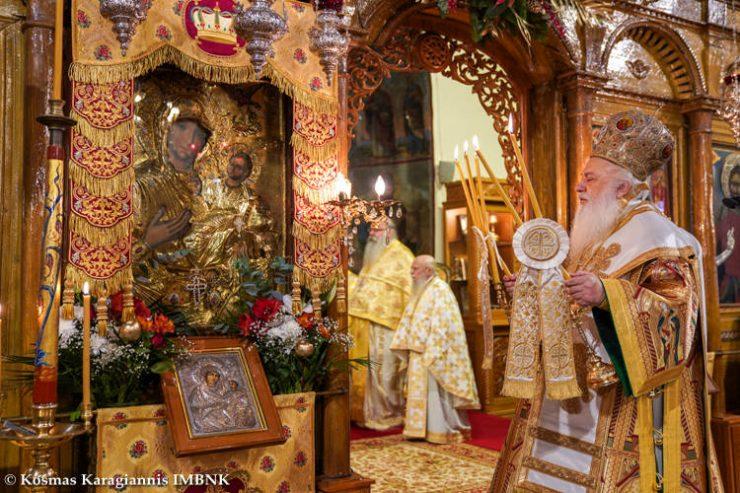 Η Σύναξη της Υπεραγίας Θεοτόκου στη Νάουσα (ΦΩΤΟ)