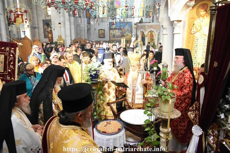 Εορτή Αγίου Ιερομάρτυρος Φιλουμένου στο Πατριαρχείο Ιεροσολύμων