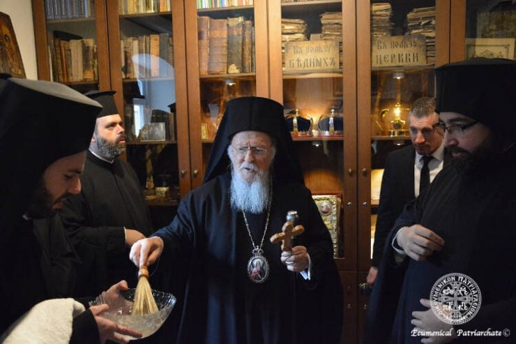 Ο Οικουμενικός Πατριάρχης στο Βατοπαιδινό Μετόχι του Αγίου Ανδρέου στον Γαλατά (ΦΩΤΟ)