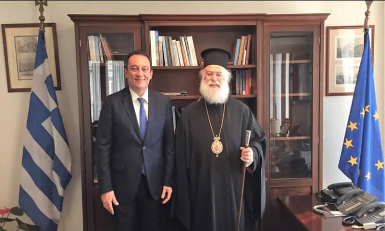 Συνάντηση Υφυπουργού Εξωτερικών με τον Πατριάρχη Αλεξανδρείας