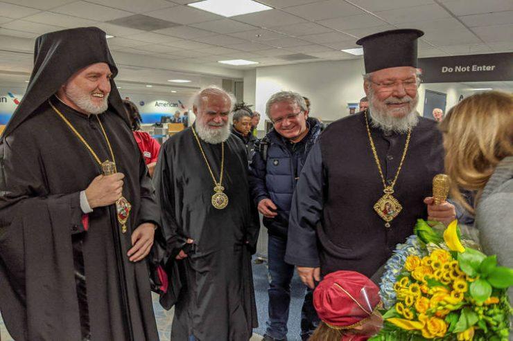 Ο Αρχιεπίσκοπος Αμερικής υποδέχθηκε τον Αρχιεπίσκοπο Κύπρου