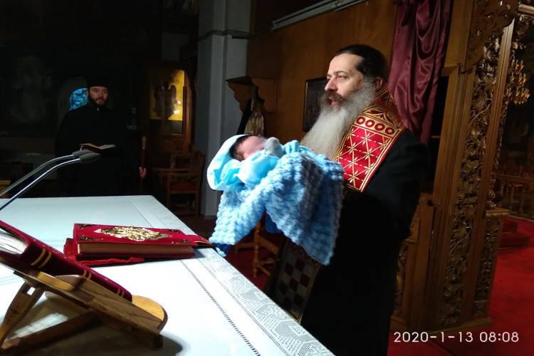 Σαραντισμός μωρού από τον Φθιώτιδος Συμεών