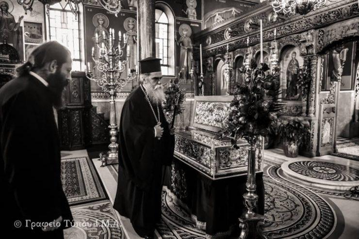 Αρχιερατικός Εσπερινός Αγίας Κυράννης στην Όσσα (ΦΩΤΟ)