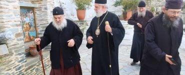 Ο Μητροπολίτης Σύρου στις Ιερές Μονές της Άνδρου