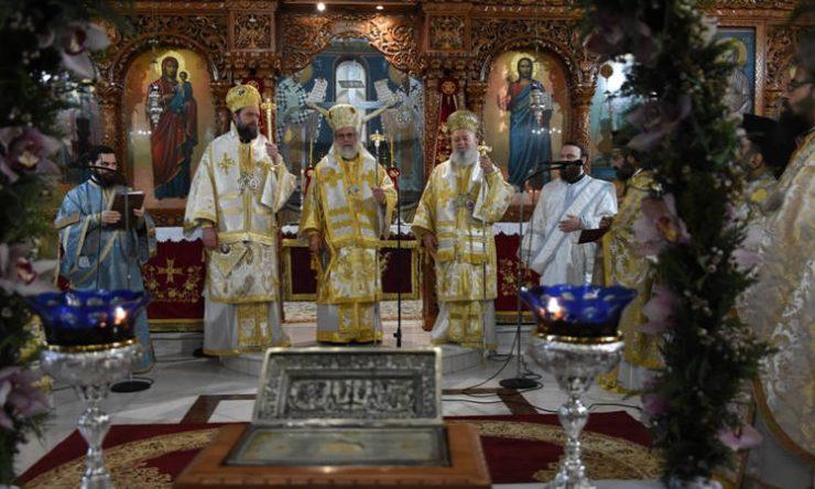 Πάνδημη υποδοχή Λειψάνων Αγίων Ραφαήλ, Νικολάου και Ειρήνης στη Χαλκίδα