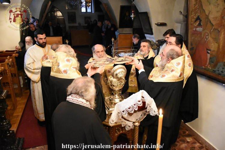 Ιερό Ευχέλαιο επί τη εορτή των Χριστουγέννων στο Πατριαρχείο Ιεροσολύμων