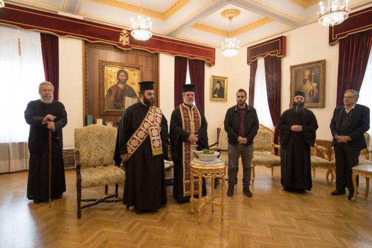 Με αγιασμό υποδέχθηκαν τον Αρχιεπίσκοπο Κύπρου