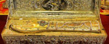 Λείψανο Αγίου Γεωργίου από το Άγιον Όρος στο Ηνωμένο Βασίλειο