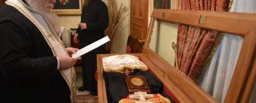 Ετοιμάζεται η λάρνακα του Αγίου Ιερομάρτυρος Βασιλείου (ΦΩΤΟ)