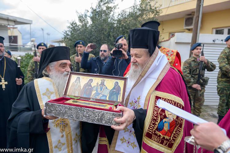Τα Χανιά υποδέχτηκαν το άφθαρτο λείψανο του Αγίου Διονυσίου