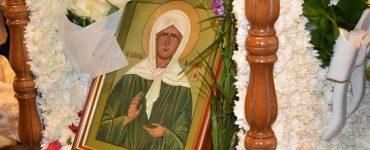 Υποδοχή Εικόνας και λειψάνου Αγίας Ματρώνας στη Μητρόπολη Λεμεσού
