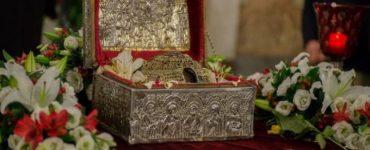Η Κάρα του Αγίου Παρθενίου στην Ευαγγελίστρια Κανήθου