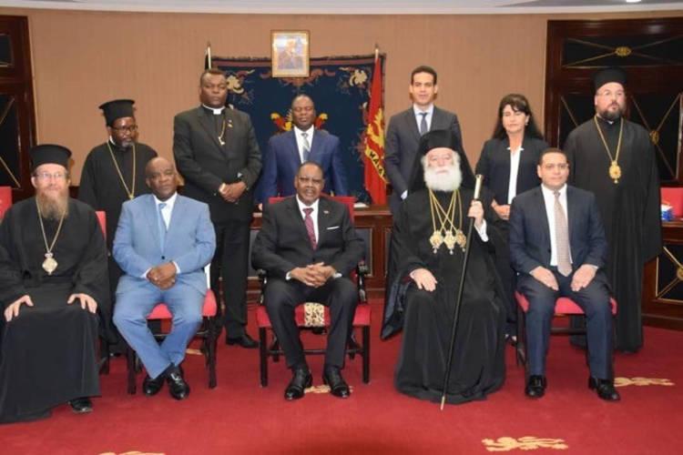 Ο Πατριάρχης Αλεξάνδρειας στον Πρόεδρο του Μαλάουι