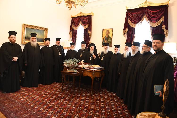 Αντιπροσωπεία του Πατριαρχείου Ιεροσολύμων στο Φανάρι (ΦΩΤΟ)