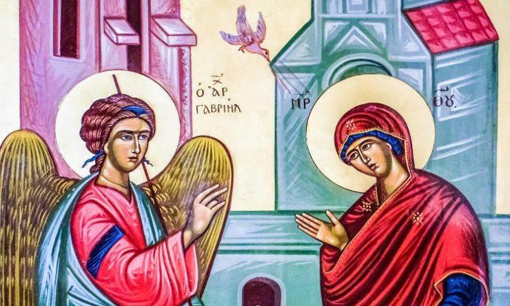 25 Μαρτίου: Ευαγγελισμός της Υπεραγίας Θεοτόκου
