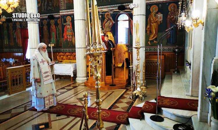 Ο εορτασμός του Ευαγγελισμού στον άδειο Ναό της Ευαγγελίστριας στο Ναύπλιο (ΦΩΤΟ)
