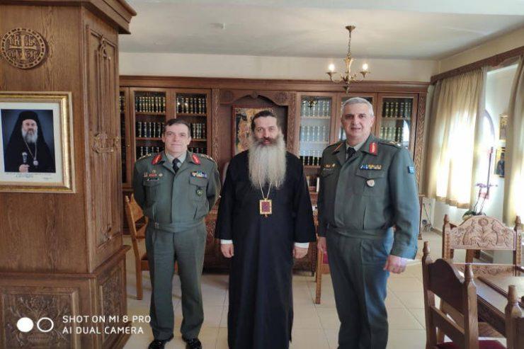 Ο νέος Φρούραρχος Λαμίας - Διοικητής του ΚΕΥΠ Ταξίαρχος (Υπ) Ιωάννης Ανδριώτης επισκέφθηκε