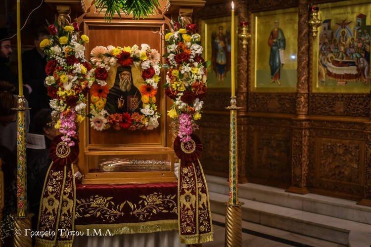 Η Δεξιά Χείρα του Αγίου Νεκταρίου στο Λαγκαδά (ΦΩΤΟ)