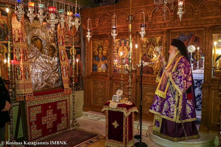 Εορτή Οσίου Χριστοδούλου του εν Πάτμω στη Μονή Αγίων Πάντων Βεργίνης