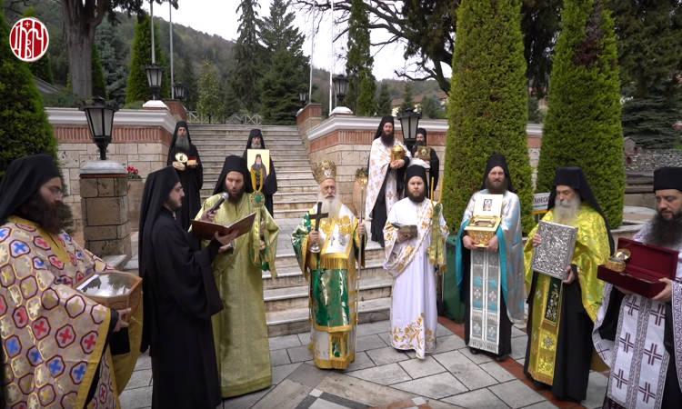 Λιτανεία στη Μονή Παναγίας Δοβρά Βεροίας υπέρ καταπαύσεως της πανδημίας (ΒΙΝΤΕΟ)