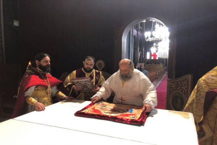 Καθαγιασμός της Πλακός της Αγίας Τραπέζης του Μητροπολιτικού Ναού Αγίων Κωνσταντίνου και Ελένης Καρδίτσης