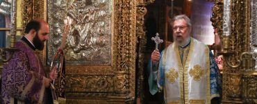 Αρχιερατική Θεία Λειτουργία στον Ιερό Ναό Αρχαγγέλου Μιχαήλ (Τρυπιώτη)
