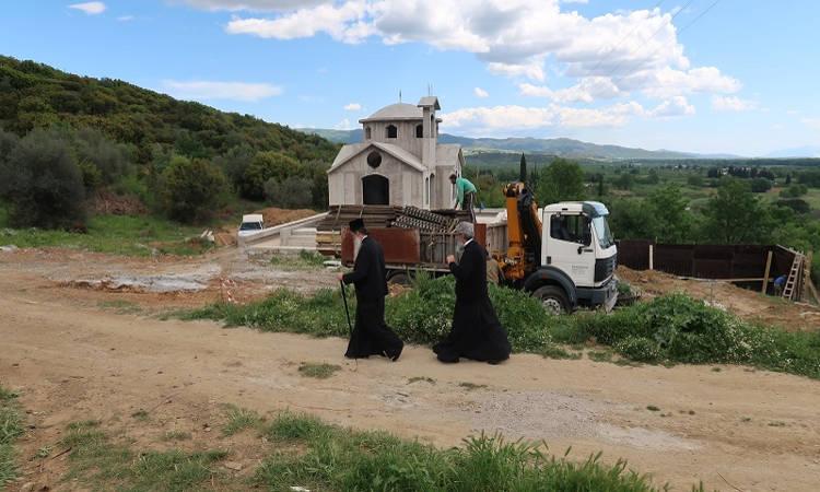 Συνεχίζονται οι εργασίες του Ιερού Ναού Οσίου Παϊσίου στην Μακρακώμη