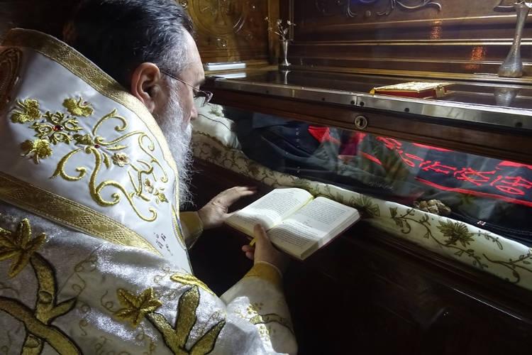 Ευχές υπέρ υγείας ενώπιον του Λειψάνου του Οσίου Παταπίου