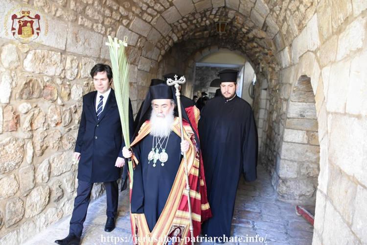 Η Κυριακή των Βαΐων στο Πατριαρχείο Ιεροσολύμων