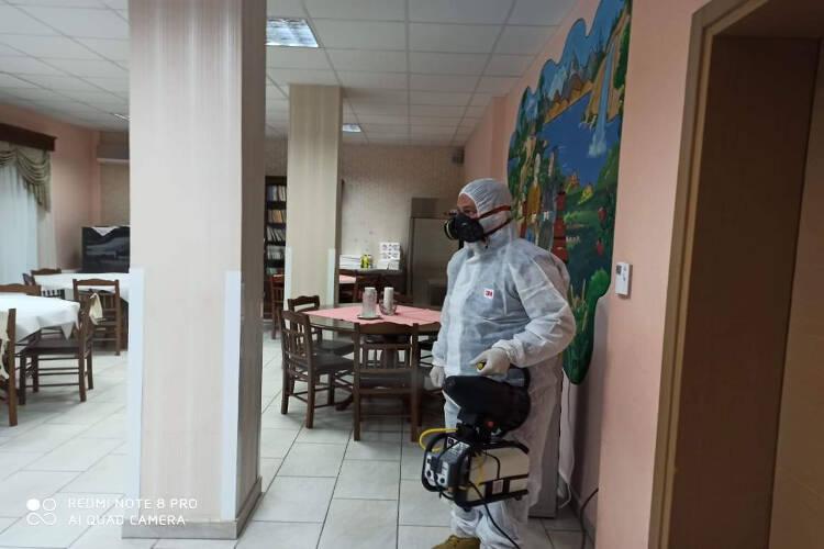 Απολύμανση των χώρων του Εκκλησιαστικού Γηροκομείου της Μητροπόλεως Κίτρους