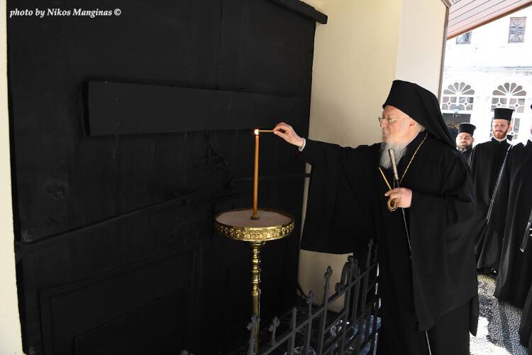 Τη μνήμη του προκατόχου του Γρηγορίου Ε' τίμησε ο Οικουμενικός Πατριάρχης