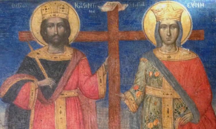 Αγρυπνίες Αγίων Κωνσταντίνου και Ελένης στο Βόλο Πανήγυρις Αγίων Κωνσταντίνου και Ελένης Καλαμαριάς