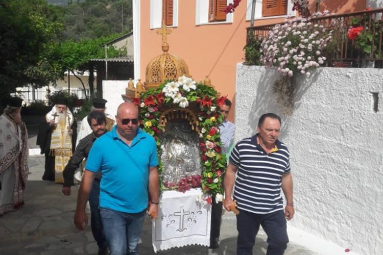 Εορτή Αγίου Μακαρίου του Νοταρά στη Μητρόπολη Σάμου
